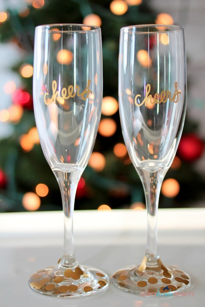 DIY Cheers Champagne Flutes
