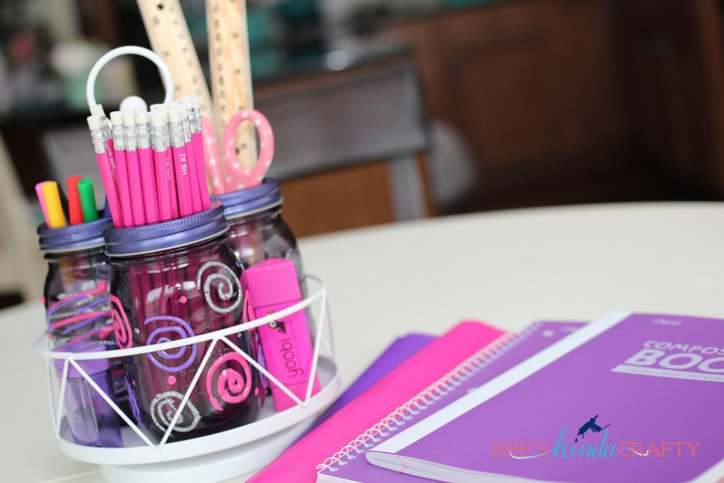 Mason Jar Homework Station